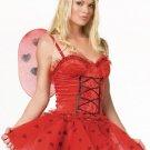 M/L Sexy Love Bug Valentine's Day Ladybug Costume-Full Set w/Wings & Headband