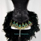 S~Custom Made Peacock Eye Feather Burlesque Mardi Gras Costume