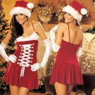 ON SALE!! Medium- Sexy Santa Clause Christmas Dress Costume Corset Shirley of Hollywood