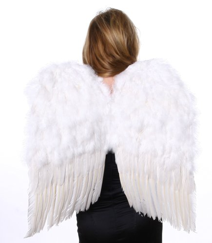 """23' x 22""""Large White Feather Angel Wings"""