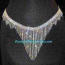 Crystal Rhinestone Fringe Skirt Belt Bellydance Belly Dance Costume