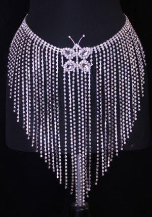 Crystal Rhinestone Fringe Skirt Belt Belly Dance Costume