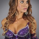 L/XL Purple Sequin and Beaded Bra