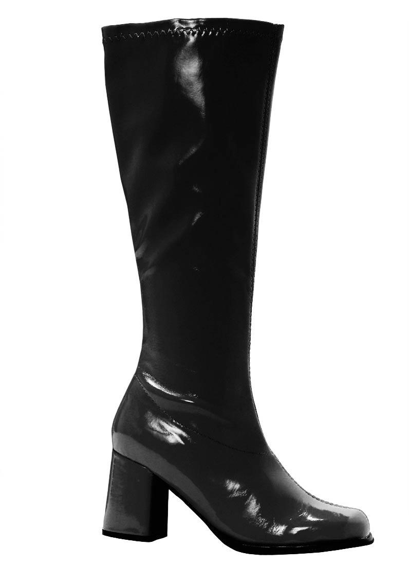 Size 7-CLEARANCE-Ellie Shoes-Black Patent Leather Vinyl ...