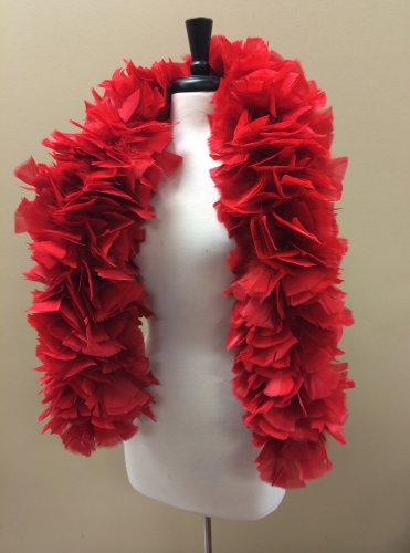 XL 6ft 240gm Red Wire Wrapped Theater Quality Turkey Rough Feather Boa Burlesque Costume Wrap