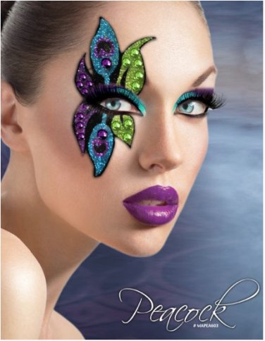 Exotic xotic eyes theatrical glitter crystal single eye for Crystal eye tattoos