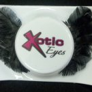 Exotic Xotic Eyes Theatrical Feather Dark Swan Black False Eyelashes