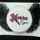 Exotic Xotic Eyes Theatrical Feather Dark Swan Black False Eyelashes