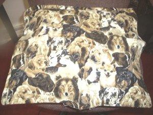 Dogs Toss Pillow