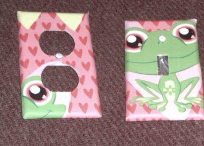 Green Froggy Set of 2 Covers