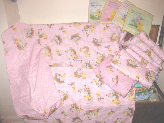Suzy Zoo Pink 9pc. Nursery Set