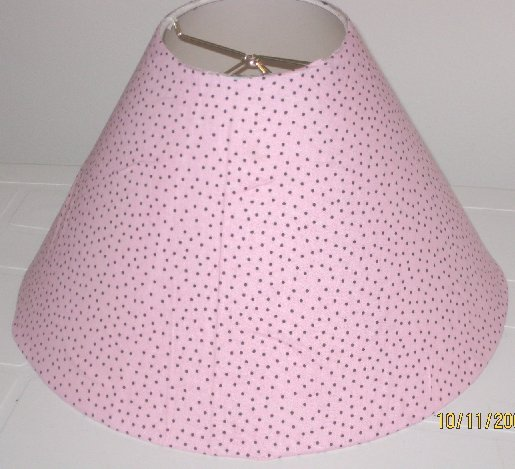 Pink with Black Polka Dot Lamp Shade