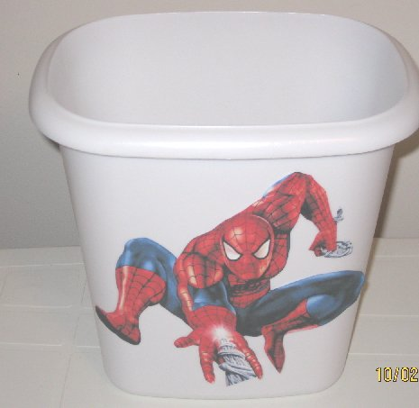 Spiderman Trash Can