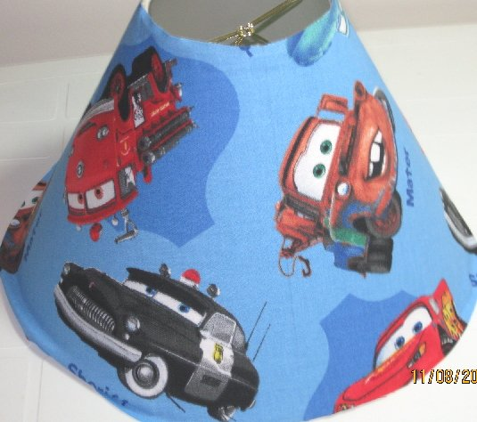 Disney Pixar Cars Blue Lamp Shade