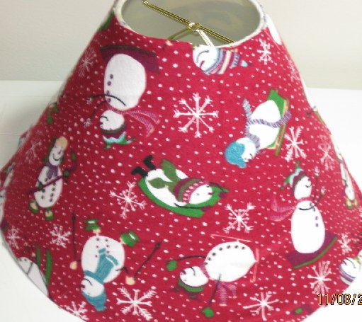 Christmas Snowman Lamp Shade