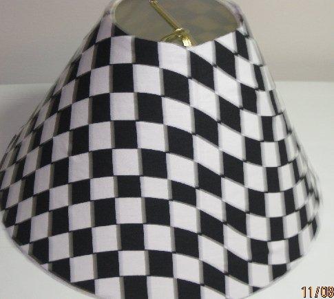 Black and White Lamp Shade