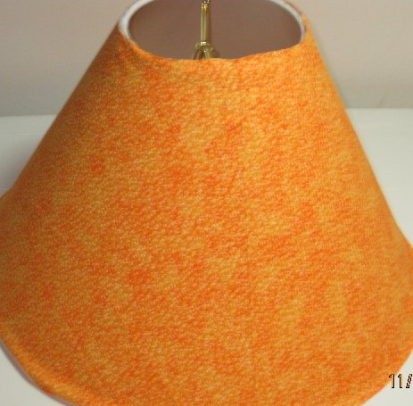 Orange Tiny Flowers Lamp Shade