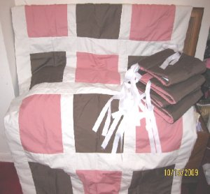Pink and Brown 2 pc Nursery Set