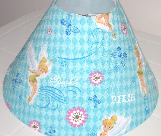 Tinkerbell Teal Spring lamp Shade