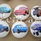Disney Pixar Cars Plastic Drawer Knob - set of 6