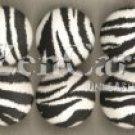 Zebra Print Drawer Knob - set of 6