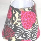 Tiger Zebra Hearts Print Night Light Lamp Shade