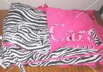 Zebra and Hot pink Print Crib Bumpers