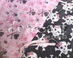 Gothic Princess Skulls 2 pc Nursery Set in pink or black