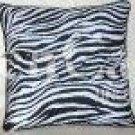 Zebra and Hot Pink Print Toss Pillow