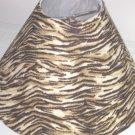 Brown Zebra Print Lamp Shade