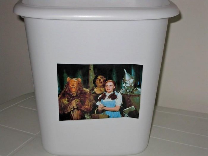 Wizard of Oz Trash Can