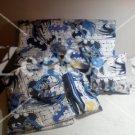 Batman Action Blue Gray Toddler Bedding Set
