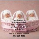 Anne Geddes baby shower invitations