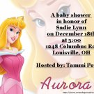 Aurora baby shower invitations
