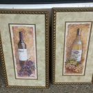 Gold Framed wine bottles Print By Charlene W. Olsen