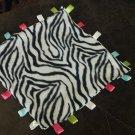 Zebra Fleece Tab Blanket