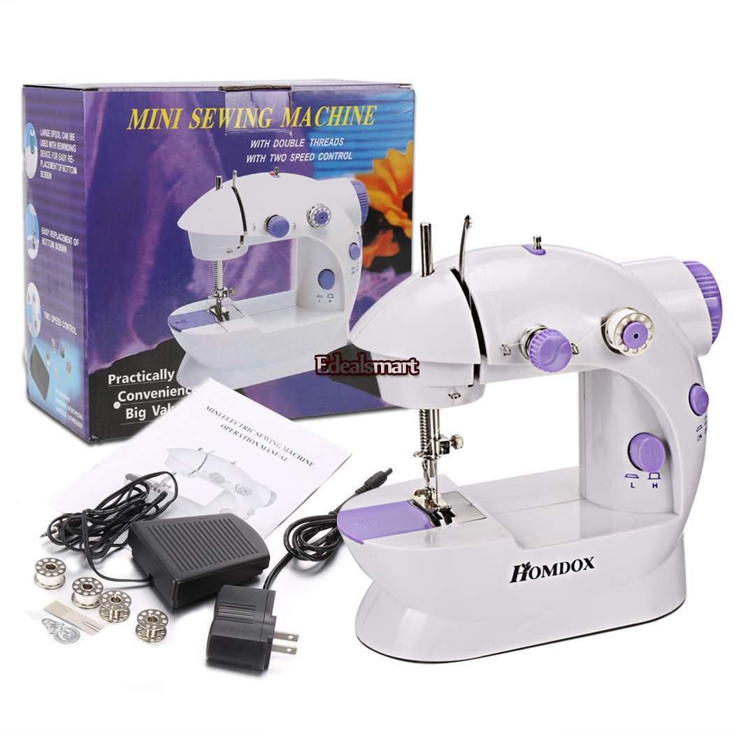 2-Speed Mini Electric Portable Desktop Sewing Machine Handheld Household sewing
