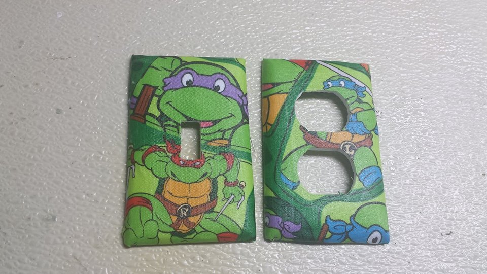 Ninja Turtles Set of 5 Light Switch Outlet Covers