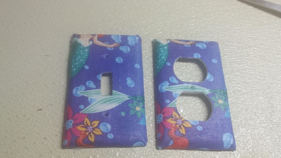Little Mermaid set of 5 Light Switch Outlet Covers