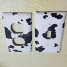 Cow Print set of 5 Light Switch Outlet Covers