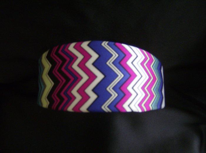 New Headband m/w Missoni Zigzag Silk Fuschia, Blue, Green, Aqua