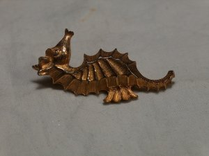Signed Roma Seahorse Brooch