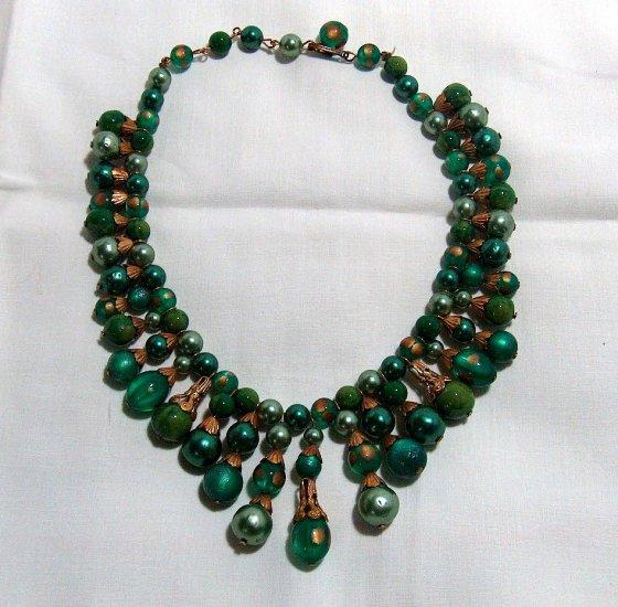 Egyptian Revival Vintage Lucite Necklace