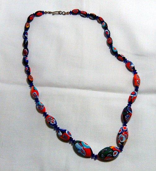 Vintage Italian Millifiori Bead Necklace