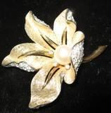 Signed Vintage Boucher Flower Brooch