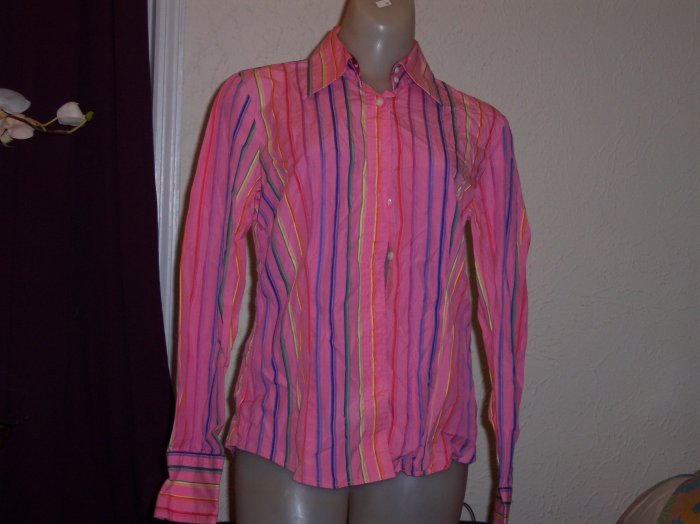 H By Hilfiger Ladies Button Polo Shirt - Size 10