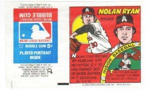 1979 Topps Test Issue Uncut Comic Baseball Wrapper Nolan Ryan