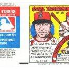 1979 Topps Test Issue Uncut Comic Baseball Wrapper Carl Yastrzemski Boston Red Sox