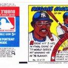 1979 Topps Test Issue Uncut Comic Baseball Wrapper Reggie Jackson New York Yankees