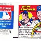 1979 Topps Test Issue Uncut Comic Baseball Wrapper Dave Kingman Chicago Cubs/New York Mets